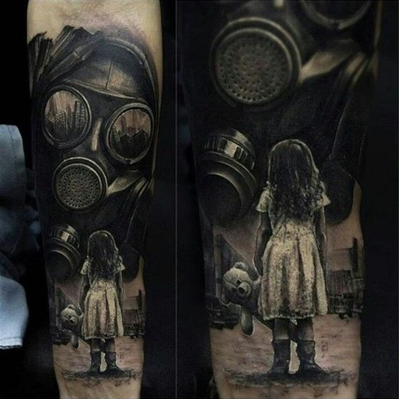 post-apocalyptic tattoo child
