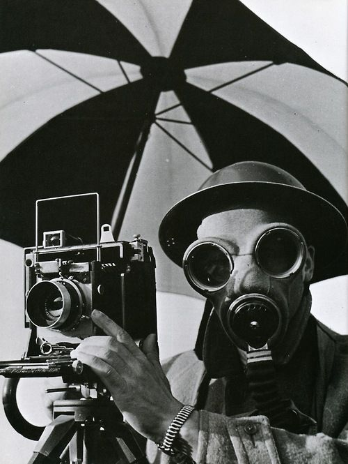 gas mask photographer