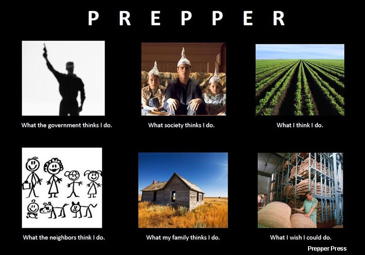 what people think I do prepper meme
